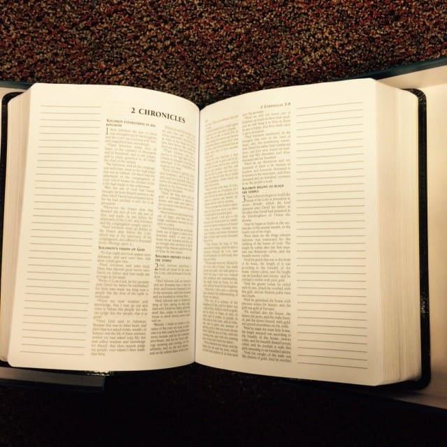 esv journaling bible open