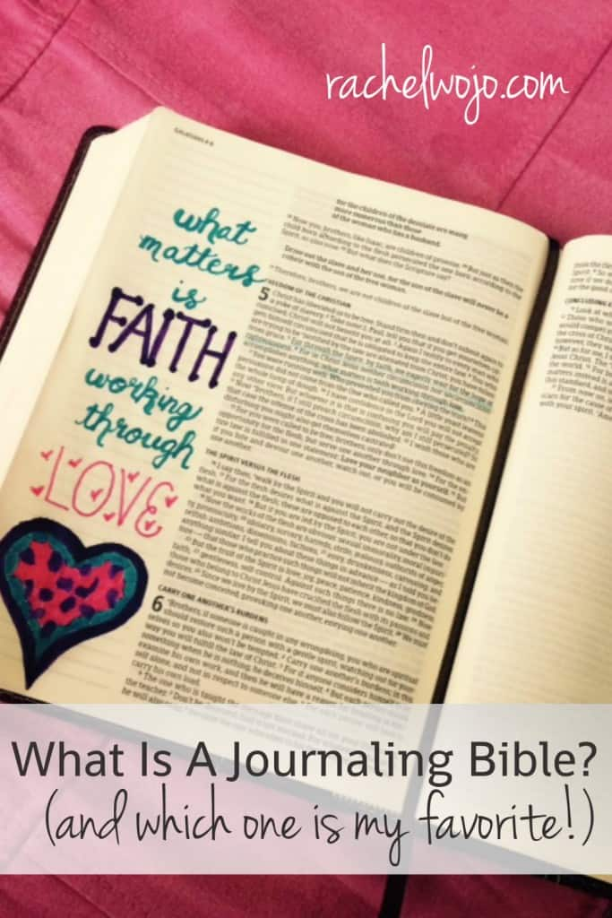 "In the past week, I can't tell you how many times I've been asked on social media: What kind of Bible is that? When I answer: It's a journaling Bible! Then the next question is either, ""What is a journaling Bible?"" or ""Where can I find one?"""