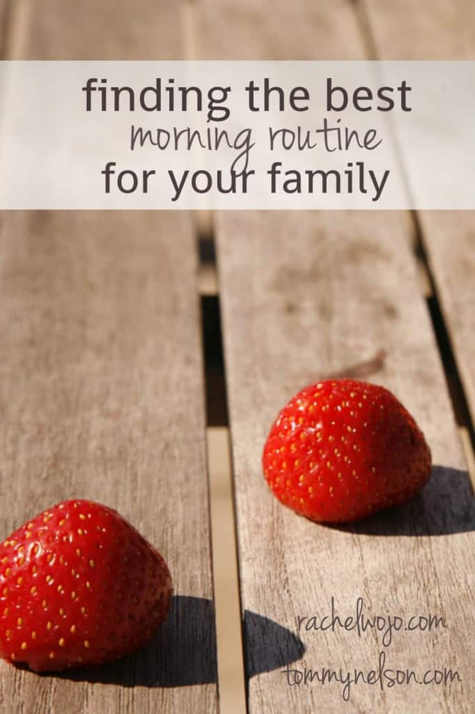 Where are my shoes? What happened to the homework I finished last night? What's for breakfast? Today I wanted to share a few ideas for finding the best morning routine for your family to get everyone on task for the day.