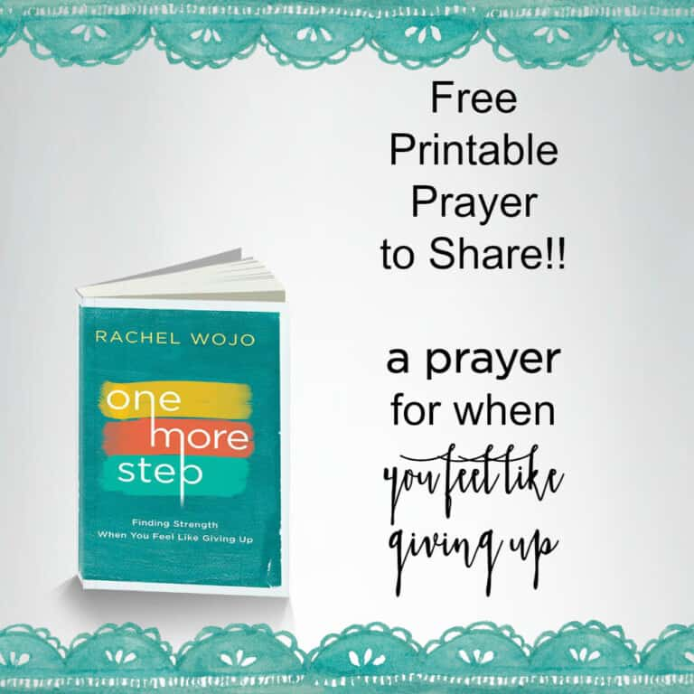 Printable Prayer to Share