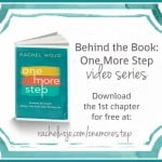 Behind the Book: One More Step Chapter 2