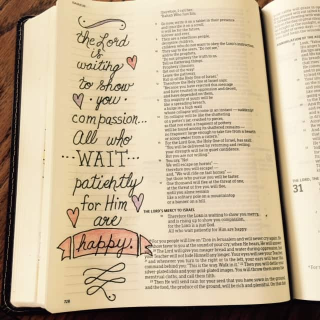 "We so often think that God is making us wait out of spite or ""just because...I don't know why."" Yet Isaiah 30:18 explains the opposite is true! He graciously creates the wait out of his mercy and compassion for us. If only we can learn to appreciate the strength that is gained in quiet confidence.#waitingonGod"