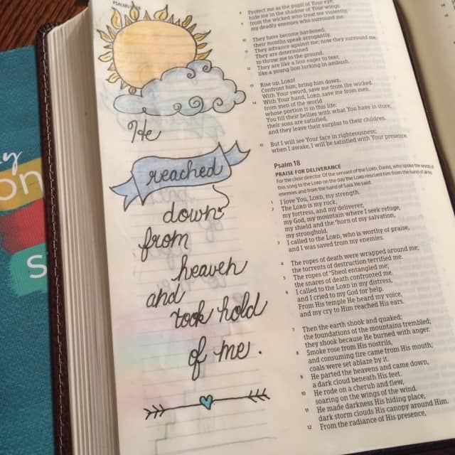 """Day 2 and Psalm 18:7-18 for the#onemorestep #biblereading challenge today. """"From the radiance of his presence, his clouds swept onward..."""" Can you imagine how much power that is?"""