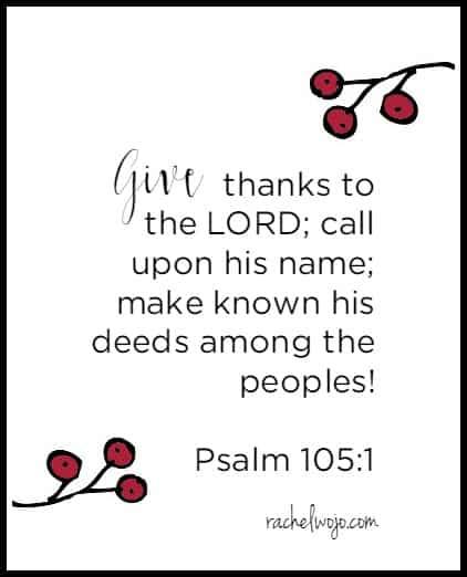 thanksgiving bible verse 1