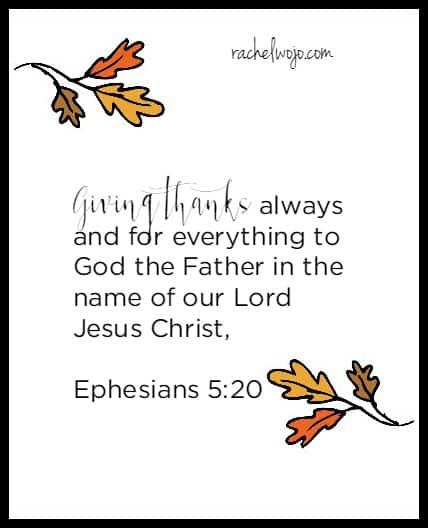 thanksgiving bible verse 4