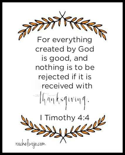 thanksgiving bible verse 6