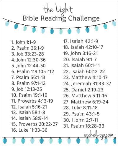 the light bible reading plan
