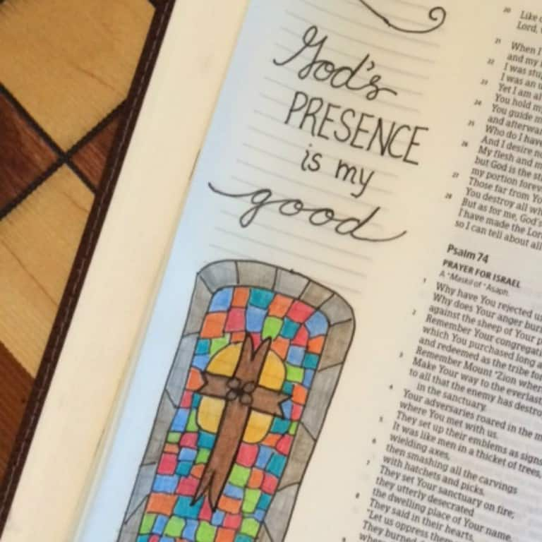 In His Presence Bible Reading Summary Week 1