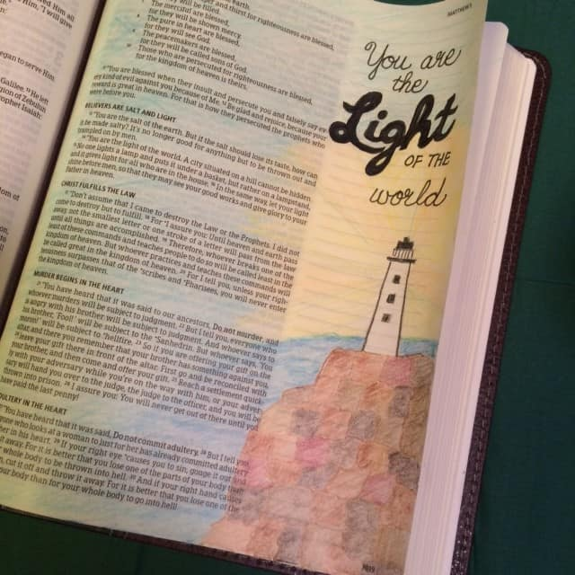 The light bible reading challenge final summary for Light a lamp and put it under a basket