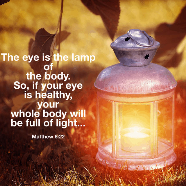 With the new year approaching, it's a great time to take today's #thelight#biblereading passage and ponder... Are my eyes focused on the intake of light or do I have reason to filter out some things that aren't light-provoking?