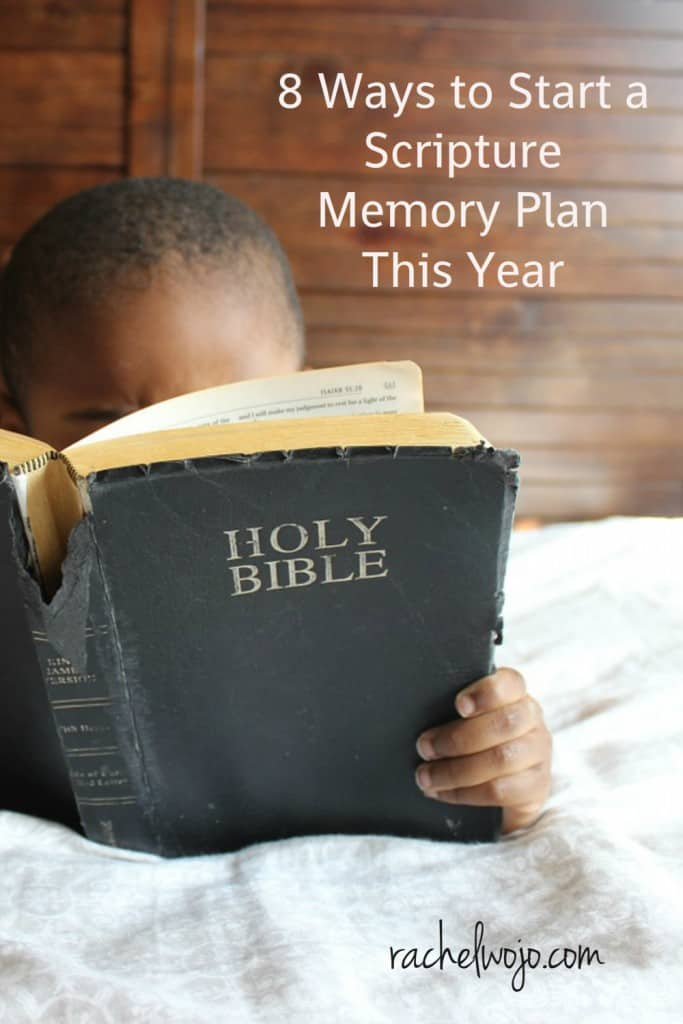 ways to start a scripture memory plan this year