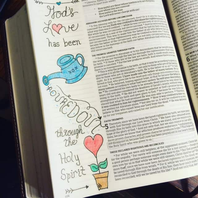 God's love is not dependent on my actions. He lavishes his love on me regardless. So thankful. 'night! #truelove #biblejournaling#bibleartjournaling #noteworthytruth