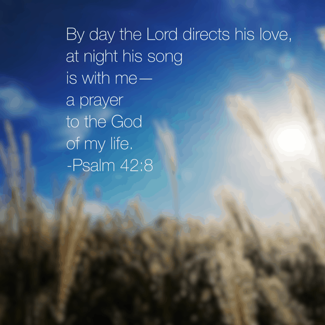 His love is with us continually. Directing by day and comforting by night. Isn't it interesting that love directs? He doesn't leave us to figure things out on our own. Oh, no. When we remain close to his love, we can hear his still small voice guiding us. He is good. His love is boundless! #truelove #biblereading