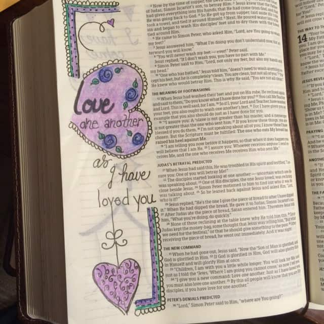 We loved because he first loved us. #TrueLove #biblereading#biblejournaling #bibleartjournaling