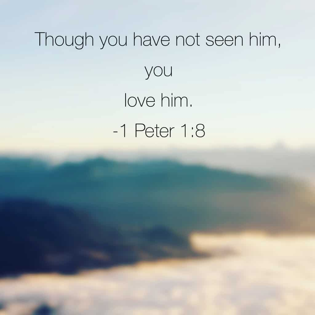 """I paused this morning to remember some of the verses we have read since beginning this month of#truelove . We loved because he first loved us. God is love. Faith is believing God though we have not seen him face to face. But his fingerprints are everywhere. """"I stopped asking God:where are you in all this? And I started asking: Will you reveal yourself to me?"""" - #onemorestep Are you looking for the evidence of his love in your life? #biblereading"""