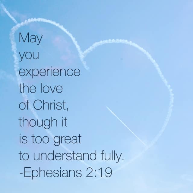 Oh the deep deep love of Jesus! It cannot be measured or weighed. His love supersedes our ability to comprehend. Our #truelove #biblereadingfor today is Ephesians 3:14-21. Don't miss it!
