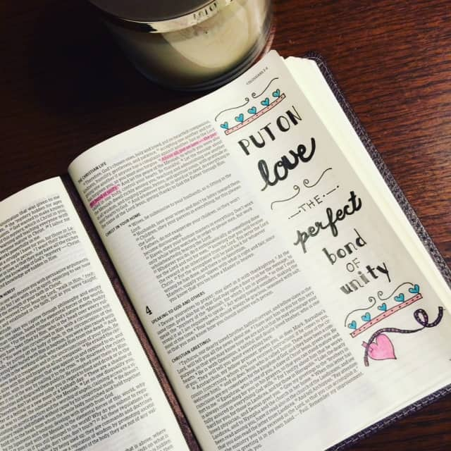 I wonder what would happen if when we dressed each morning, we envisioned a beautiful braid of love connecting us to all those who cross our paths. #truelove #biblereading#biblejournaling #illustratedfaith#noteworthytruth
