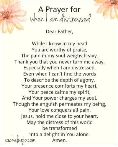 a prayer for when I am distressed