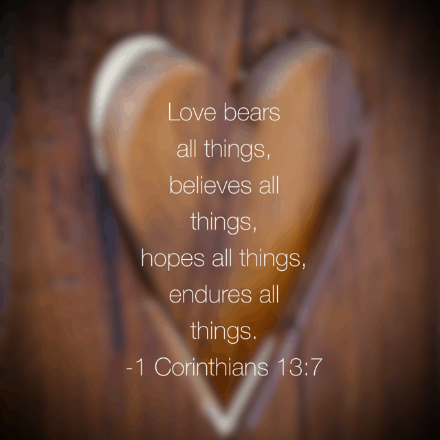 Love. It is an action word. It bears. Believes. Hopes. Endures. #truelove #biblereading
