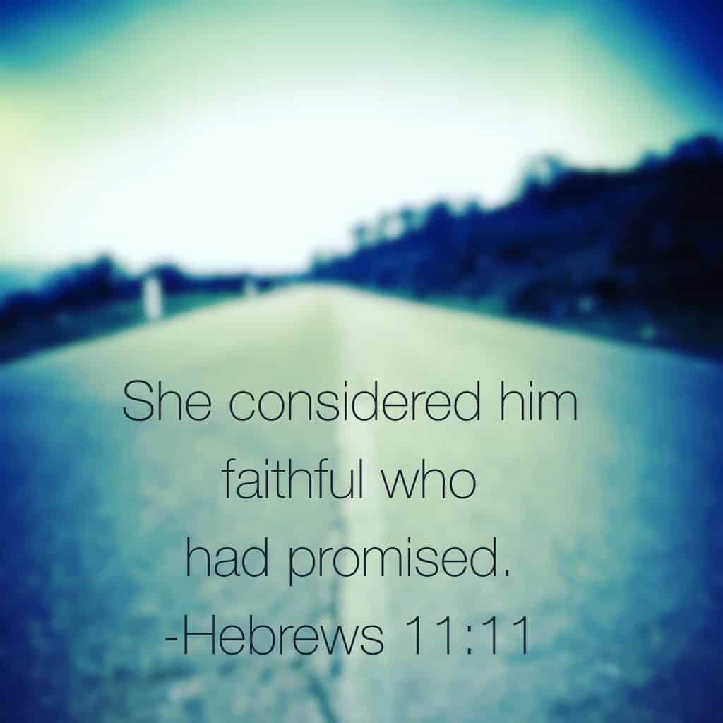#genuinefaith believes He will keep his promises because he has always done so. Our faith rests in the Faithful One. #biblereading Hebrews 11:11-21 for today's reading