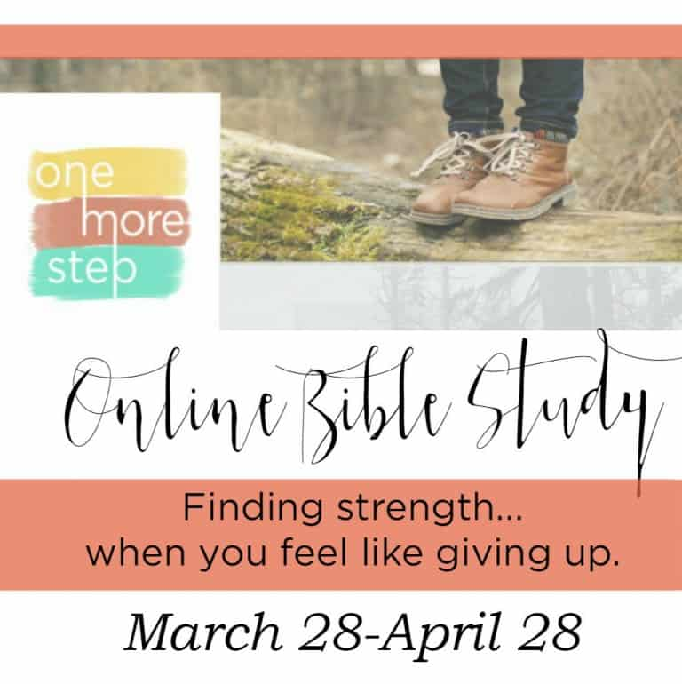One More Step Online Bible Study Registration