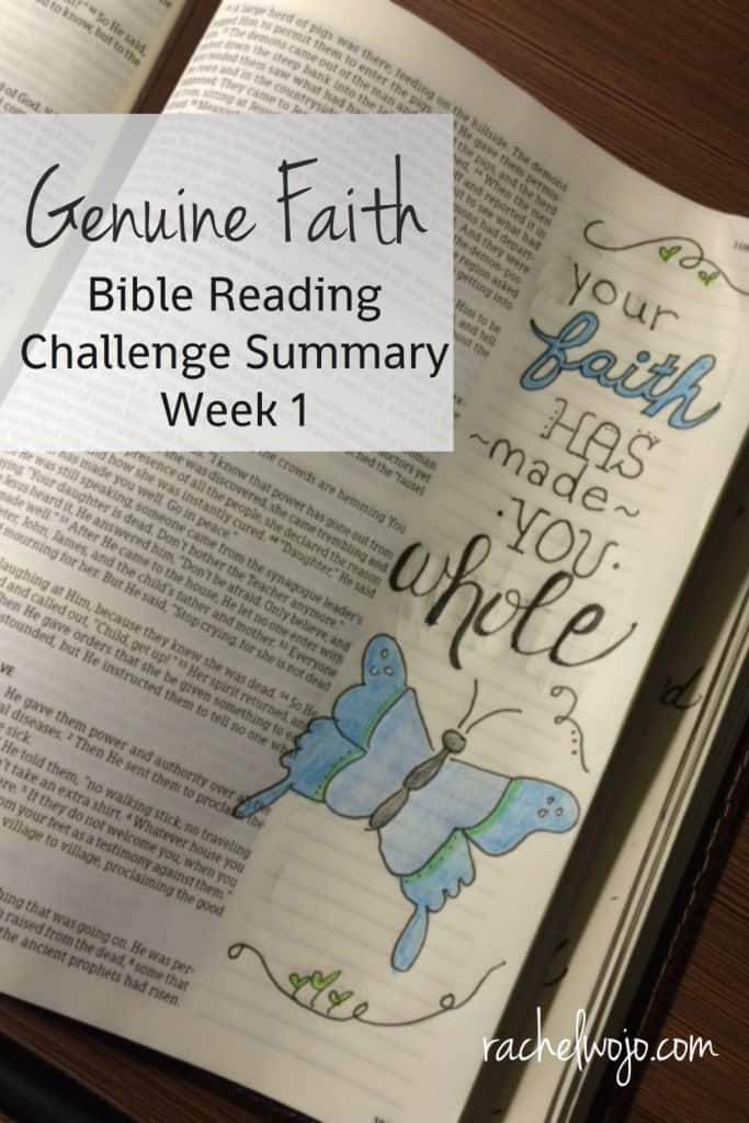 Today we will only cover the first 3 days of the new Bible reading plan for March, Genuine Faith. But let's dive in to the Genuine Faith Bible reading challenge summary week 1 and check out what we've learned so far.