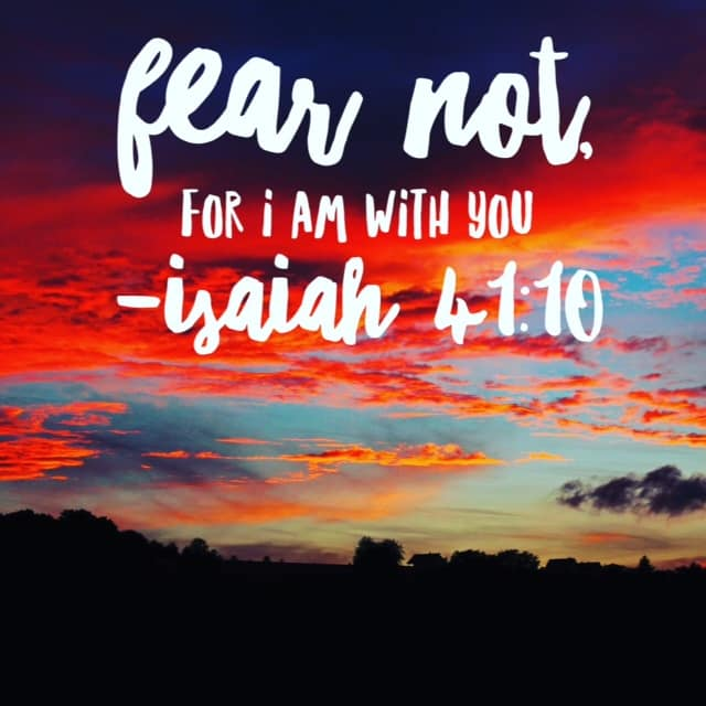 """Isaiah delivers a word from the Lord to Israel in our passage today. And it's a 2 word phrase we are honing in on this entire month of Bible reading. Fear was the tool Satan used to paralyze the children of Israel to prevent them from doing God's work. It's the same old trick he uses on us today. But there is no need to fear. """"Fear not, for I am with you; be not dismayed, for I am your God; I will strengthen you, I will help you, I will uphold you with my righteous right hand."""" His presence is with us today in the same way!! #nofear #biblereading"""