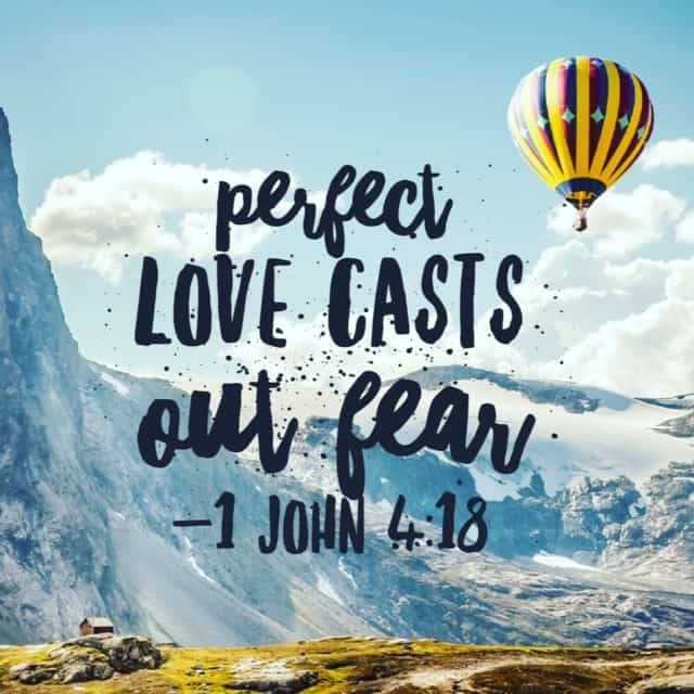 """Imperfection is leaving out the """"1"""" before 1 John on the reading plan today. 1 John 4:13-21 tells us imperfect love leaves fear inside of us. Only the perfect love of Christ can cast out fear! #nofear (sorry! I'll correct the reading plan!)"""