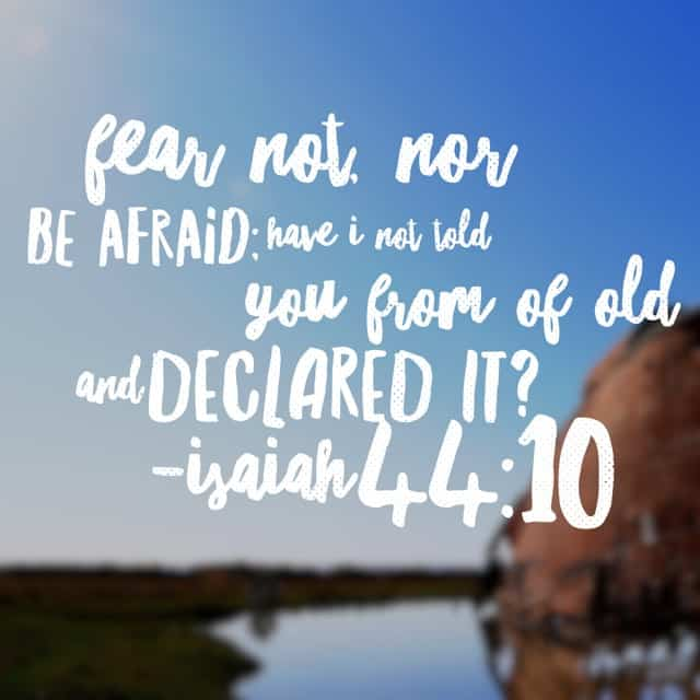 Isaiah declared the word of the Lord to the people of Israel. And with the reminder not to be afraid, he reminds them that God has never changed. His promises are true and his word is pure. Jesus Christ- the same yesterday, today, and forever.#nofear #biblereading