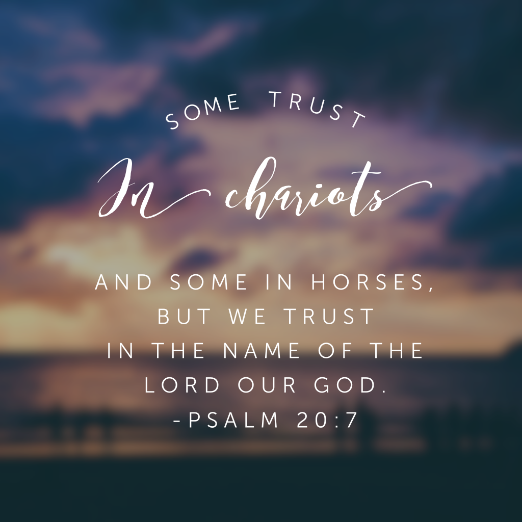 Or you might say cars. Or houses. Or bank accounts. Or the next President. Or a weight loss program. Or makeover. Where are you placing your trust? Because where you place your trust is where your confidence will come from.#confidentinhim #biblereading