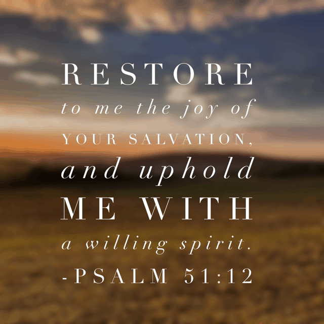 And when I fail, he restores. His joy is available again because it never fails. If you are struggling with sin and missing the joy of the Lord in your life, he is ever willing to uphold your heart. Return to joy again. #PureJoy #biblereading