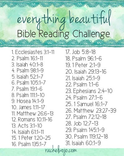 everything beautiful bible reading plan