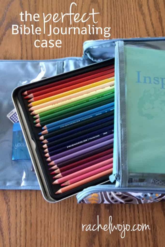 When I returned from my trip, my sweet friend, Regina, brought a little goodie to church with her that I just had to share with you- the perfect Bible journaling supply case! I really wish I had this case BEFORE I went on that trip.