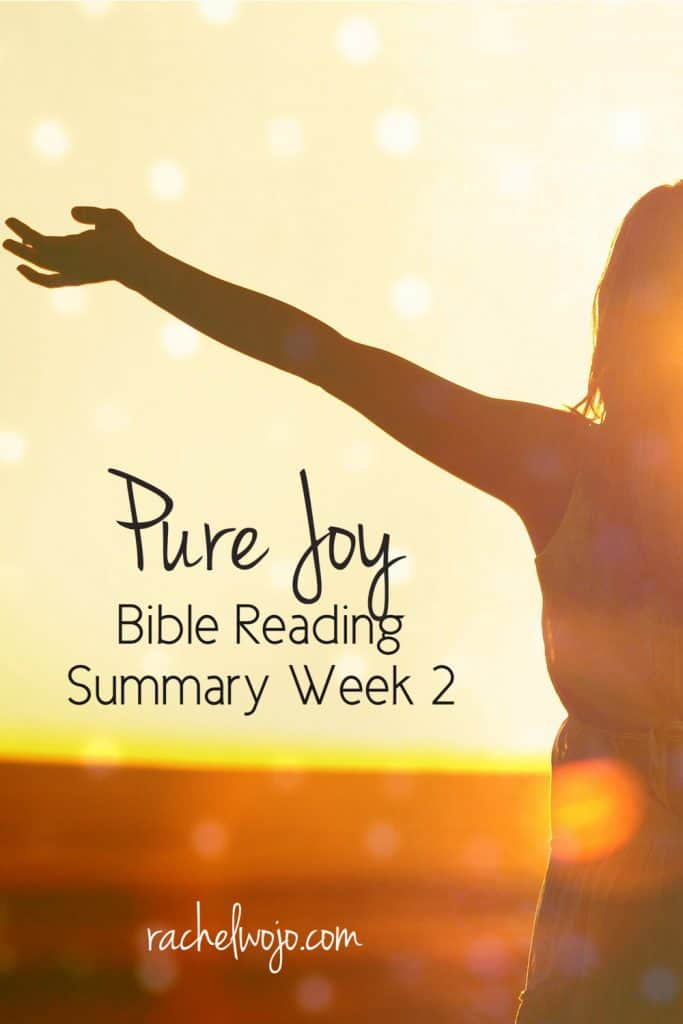I can honestly tell you that this monthly Bible reading plan has challenged me on a daily basis more than any we've completed. God's Word is alive and active, amen? Let's take a look at the Pure Joy Bible reading summary week 2. #purejoy #biblereading