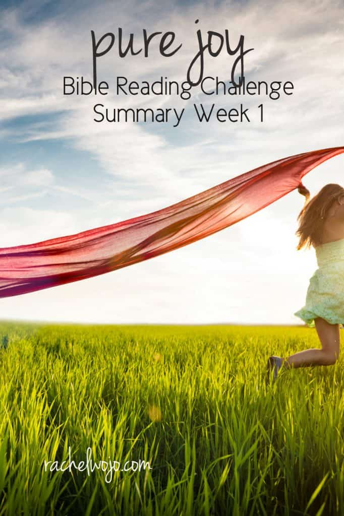 Our family experienced a few unexpected circumstances that tempted me to forget my Source of joy. But God is good, gracious and always provides his word to reinforce what the Spirit is whispering to our hearts. Let's take a look at the Pure Joy Bible reading summary week 1. #purejoy #biblereading