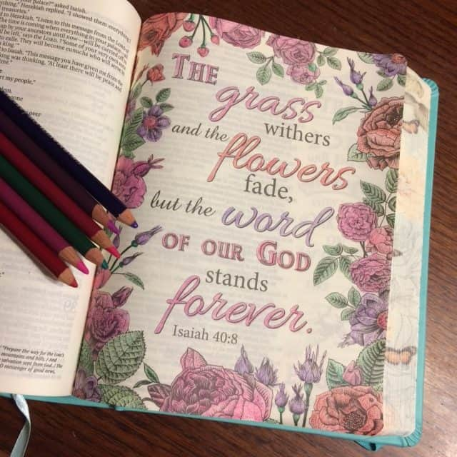 I wanted to do some#biblejournaling tonight to wind down a bit, but I felt a little weak on the creative side. So I finally colored in my first full page of my #inspirebible !