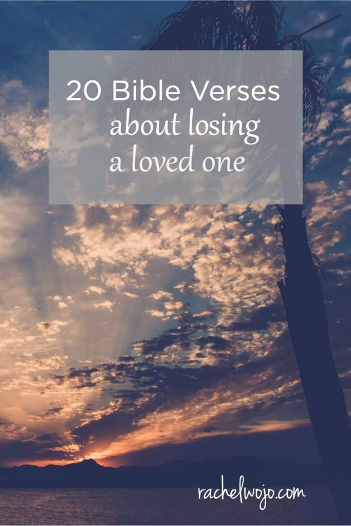 Bible Quotes About Death Of A Loved One Best 20 Bible Verses About Losing A Loved One  Rachelwojo