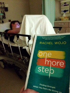 As I sit in the ER, with my 16 year old son as he suffers Chronic Pancreatitis, I am reading your book, I have been fighting back the tears. Such a beautiful book. Thank you for writing this, and for inspiring us weary mom's to just take One More Step! – Kyla P.