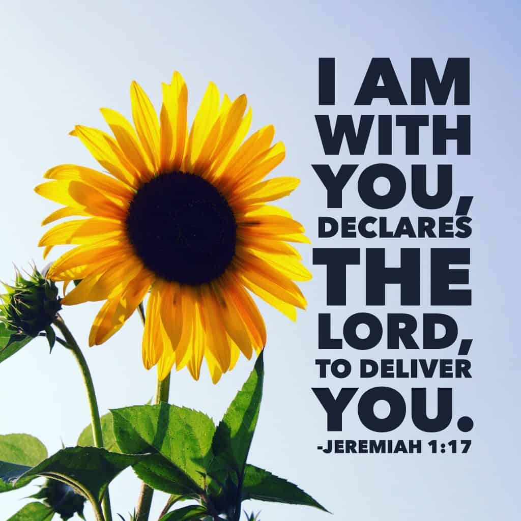 Just as the Lord was with Jeremiah in today's #neveralone#biblereading passage, so is he with us today. No task is too big; no responsibility is too large. If God has called you to it, he will see you through it! #onemorestep