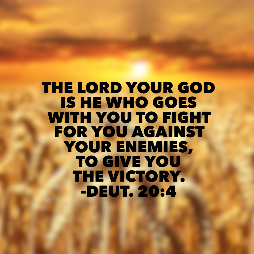 1. God is with you today. 2. He is FOR you. 3. Identify your true enemy this morning. 4. Realize that God has already won the war and he longs to give you the victory over whatever battle you face today! Take that, Monday. #neveralone#biblereading