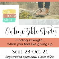 One More Step Fall Online Bible Study