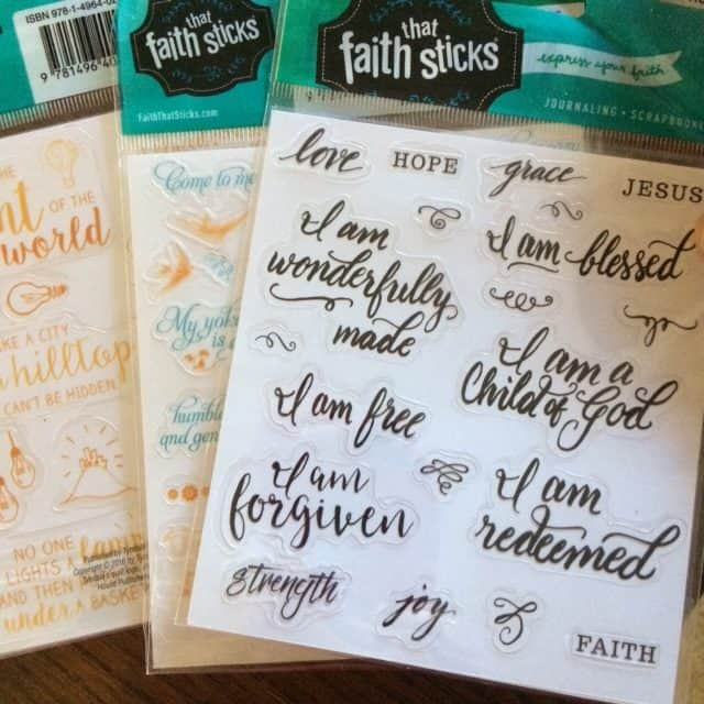 """I wrote an entire post about how to use stickers to study your Bible because so many folks look at my journaling Bibles and say """"Oh, I could never do that!"""" I love you, but YES, YOU CAN! If I can learn and use creative lettering techniques and scratch out simply drawings, you can too. However, if you need a little boost for your Bible-journaling confidence, start with stickers. Just peel and stick. You did that when you were 2 years old or less, right?"""