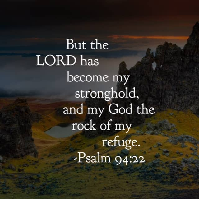 """The psalmist says """"The Lord has become..."""" because it was a process, a journey for him to learn to rely on the steadfast Rock. All other ground is sinking sand. #ourGodtheRock #biblereading"""