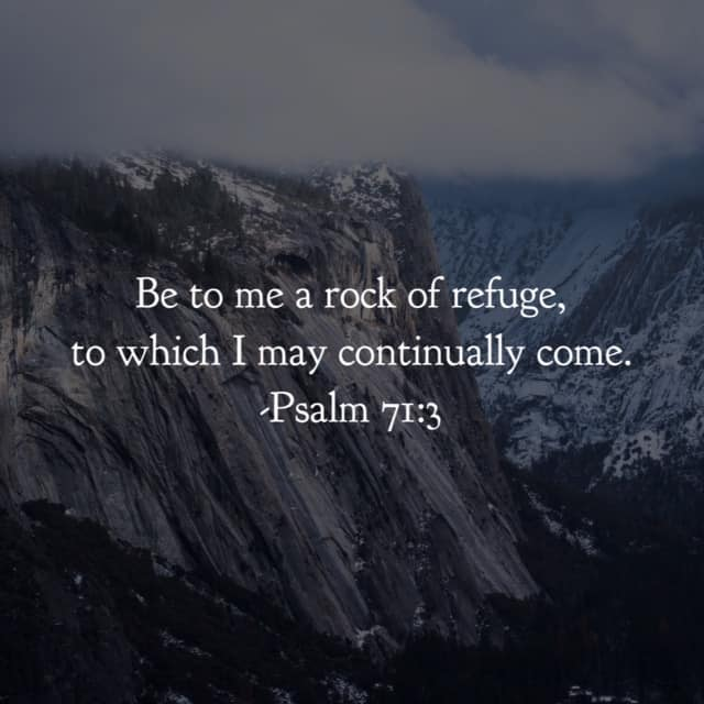 Not occasionally. Not once in a great while. No, the rock to which we continually come. Oh the strength that results in our constant reliance on the Lord to fulfill his promises! Have a terrific Tuesday thinking on that. #ourGodtheRock#biblereading