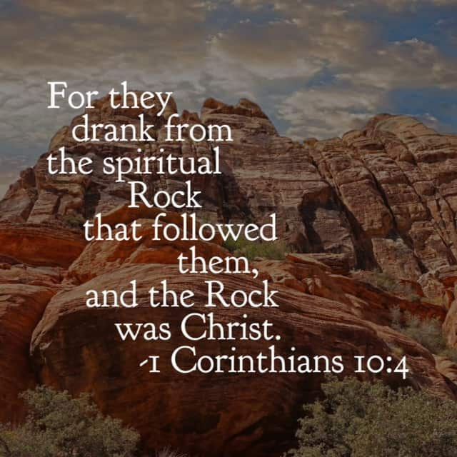 The children of Israel wandered about in the desert, in desperate need of hydration. They needed water or they would die. In our same desperation, oh how we need Christ, the Rock. May your Friday be overflowing with the water that never runs dry. #ourGodtheRock #biblereading