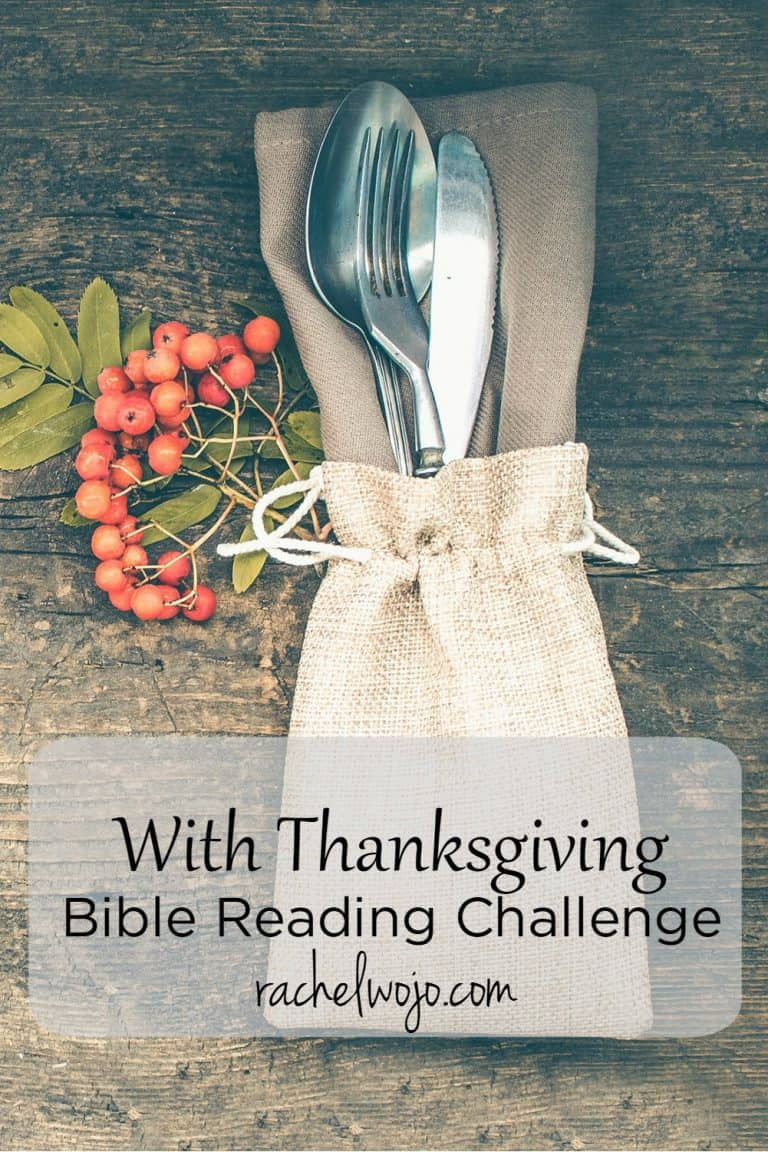 With Thanksgiving Bible Reading Challenge