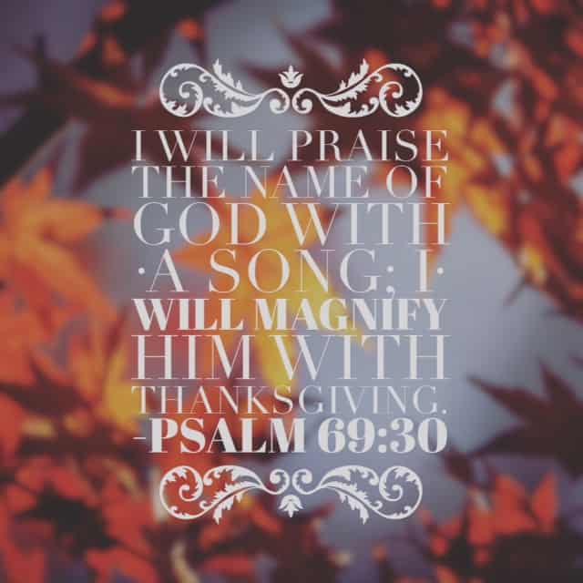 """Deeply reminded by today's#biblereading passage. Verse 29 provides an interesting detail we must remember. The psalmist says """"But I am afflicted and in pain;let your salvation, O God, set me on high!"""" Then he goes on to verse 30. When in pain and affliction, praise and thanksgiving to God is a powerful tool! Don't forget it. I'm choosing to find all kinds of things to thank God for at the Wojo house today!#withthanksgiving"""