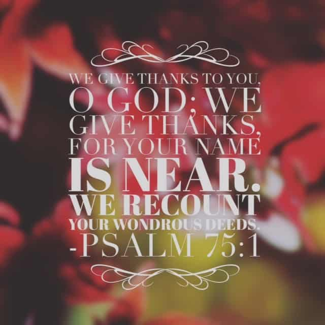 Don't rush on to your own agenda. Thanksgiving is less about carving a turkey and more about carving out time to give God and each other thanks. Recounting is counting again. So what do you need to recount, to give God thanks for again? Today I'm thankful for his nearness.#withthanksgiving #biblereading