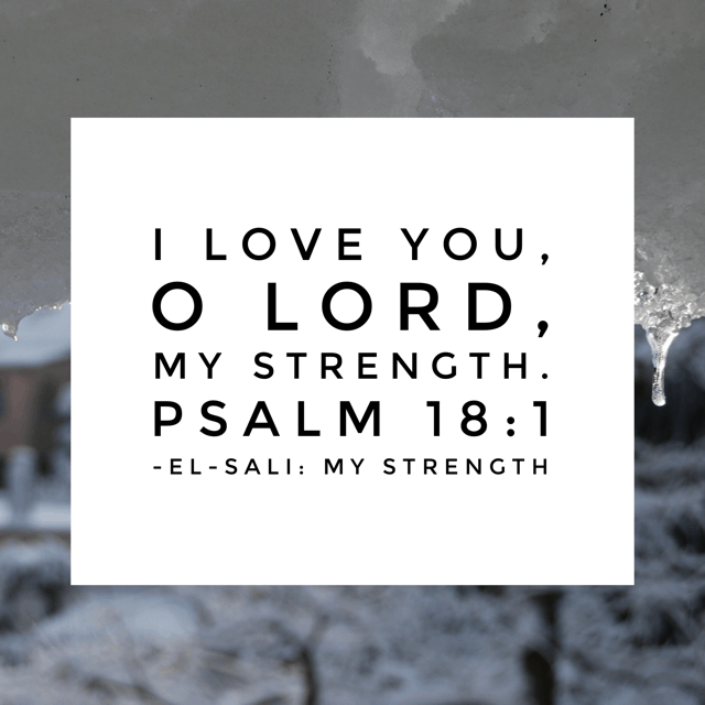 The introduction to this Psalm explains the purpose behind it. David sang to his God because he had been delivered from his enemies. In this moment, he knows that he didn't conquer in his own strength. That battle you're facing? Through him, you've got it. The battle is the Lord's and he has already won! So go forward in his strength this Monday! #namesofGod#biblereading