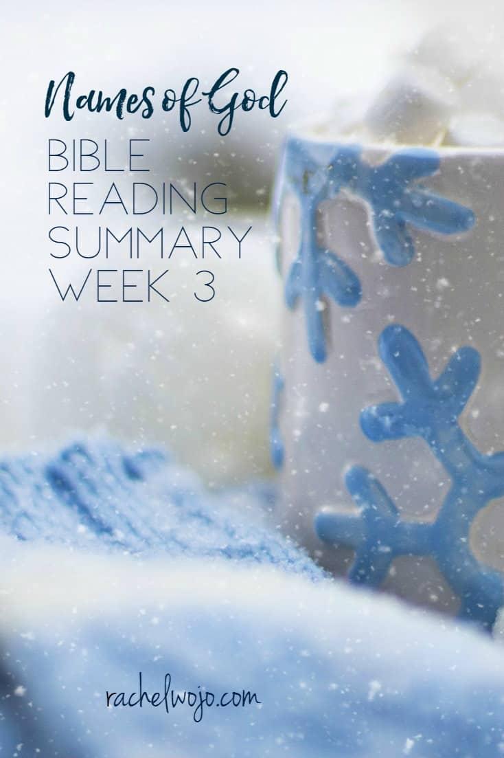 Names of God Bible Reading Summary Week 3